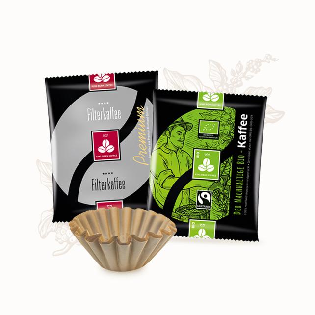 King Bean Coffee Service - Kaffee Portionsbeutel für die Th10
